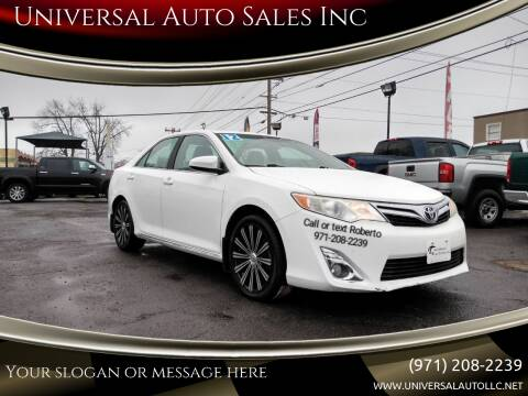 2012 Toyota Camry for sale at Universal Auto Sales Inc in Salem OR