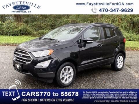 2019 Ford EcoSport for sale at FAYETTEVILLEFORDFLEETSALES.COM in Fayetteville GA