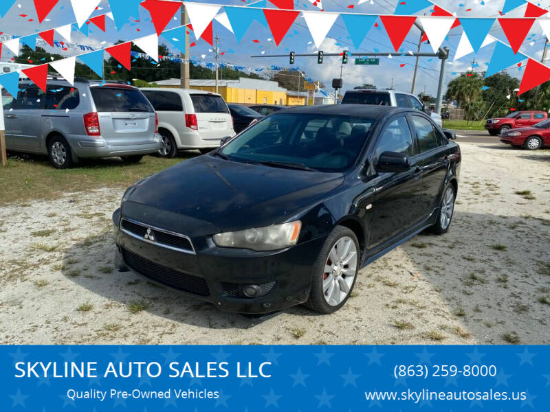 2008 Mitsubishi Lancer for sale at SKYLINE AUTO SALES LLC in Winter Haven FL