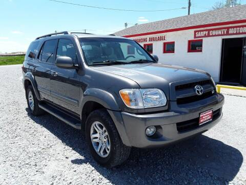 2007 Toyota Sequoia for sale at Sarpy County Motors in Springfield NE
