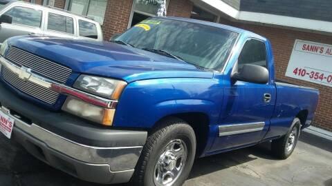 2003 Chevrolet Silverado 1500 for sale at Sann's Auto Sales in Baltimore MD