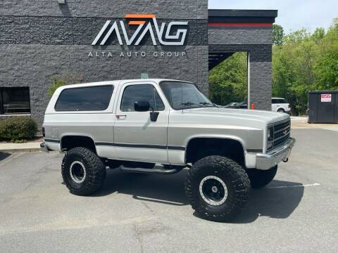 1990 Chevrolet Blazer for sale at Alta Auto Group LLC in Concord NC