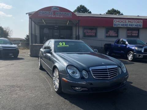 2007 Mercedes-Benz E-Class for sale at Choice Motors of Salt Lake City in West Valley  City UT