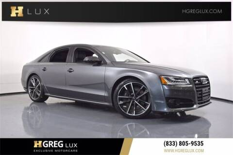 2017 Audi S8 plus for sale at HGREG LUX EXCLUSIVE MOTORCARS in Pompano Beach FL