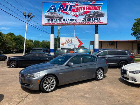 2012 BMW 5 Series for sale at ANF AUTO FINANCE in Houston TX