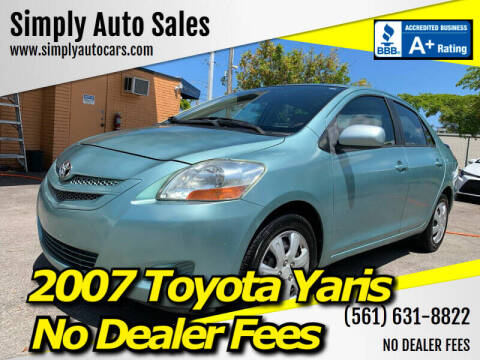 2007 Toyota Yaris for sale at Simply Auto Sales in Palm Beach Gardens FL