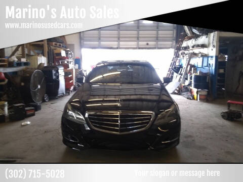2014 Mercedes-Benz E-Class for sale at Marino's Auto Sales in Laurel DE