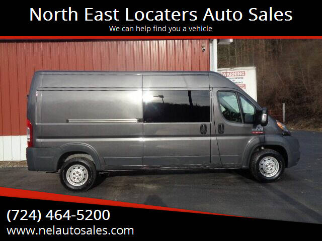 2017 RAM ProMaster Cargo for sale at North East Locaters Auto Sales in Indiana PA