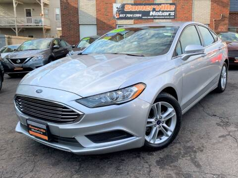 2018 Ford Fusion for sale at Somerville Motors in Somerville MA