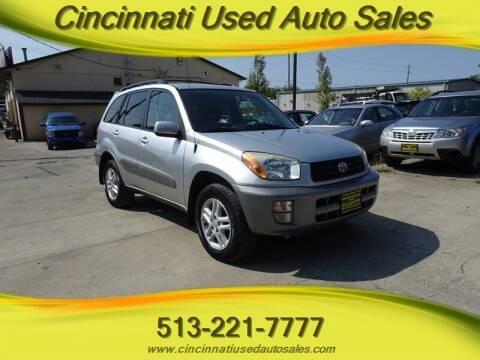 2001 Toyota RAV4 for sale at Cincinnati Used Auto Sales in Cincinnati OH