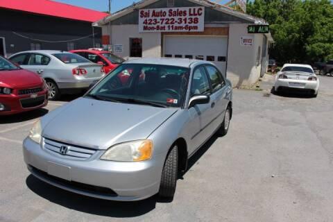 2002 Honda Civic for sale at SAI Auto Sales - Used Cars in Johnson City TN