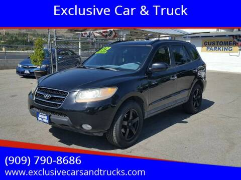 2008 Hyundai Santa Fe for sale at Exclusive Car & Truck in Yucaipa CA