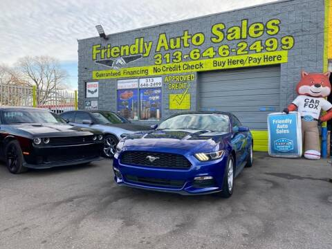 2016 Ford Mustang for sale at Friendly Auto Sales in Detroit MI