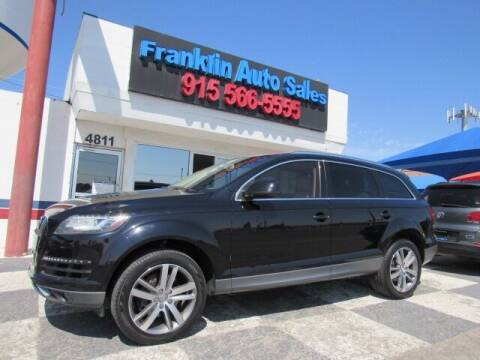 2013 Audi Q7 for sale at Franklin Auto Sales in El Paso TX