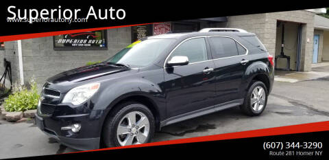 2013 Chevrolet Equinox for sale at Superior Auto in Cortland NY