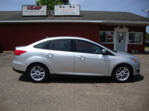 2015 Ford Focus for sale at G and G AUTO SALES in Merrill WI