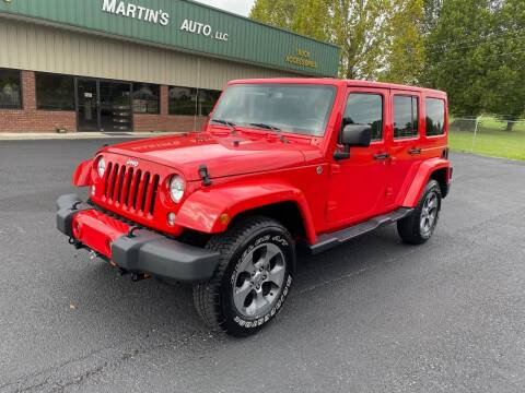 2017 Jeep Wrangler Unlimited for sale at Martin's Auto in London KY