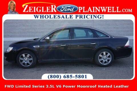 2008 Ford Taurus for sale at Zeigler Ford of Plainwell- Jeff Bishop in Plainwell MI