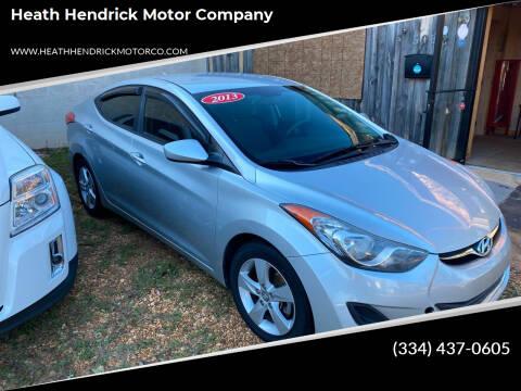 2013 Hyundai Elantra for sale at Heath Hendrick Motor Company in Greenville AL