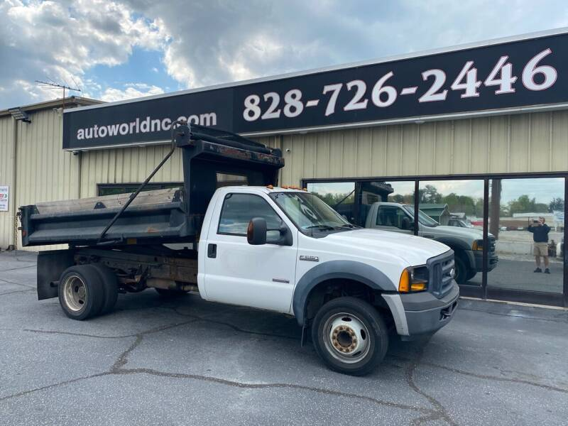 2007 Ford F-550 Super Duty for sale at AutoWorld of Lenoir in Lenoir NC