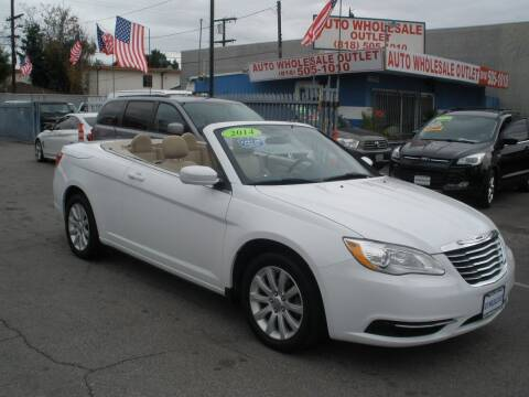 2014 Chrysler 200 Convertible for sale at AUTO WHOLESALE OUTLET in North Hollywood CA