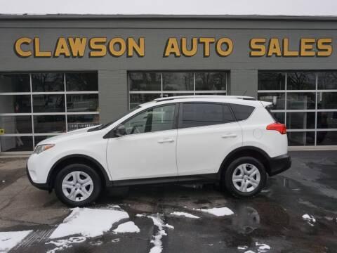 2015 Toyota RAV4 for sale at Clawson Auto Sales in Clawson MI