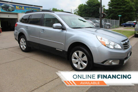 2012 Subaru Outback for sale at K & L Auto Sales in Saint Paul MN