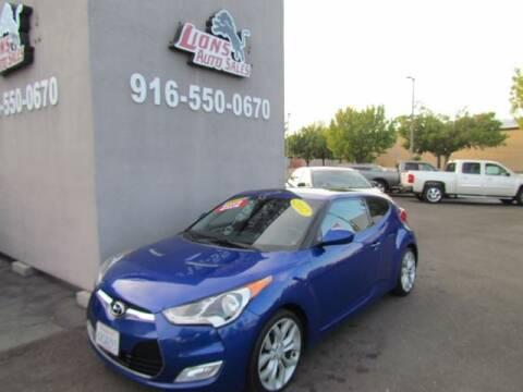 2012 Hyundai Veloster for sale at LIONS AUTO SALES in Sacramento CA