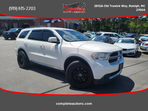 2012 Dodge Durango for sale at Complete Auto Center , Inc in Raleigh NC