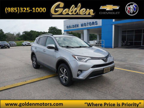 2018 Toyota RAV4 for sale at GOLDEN MOTORS in Cut Off LA
