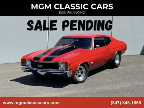 1972 Chevrolet Chevelle for sale at MGM CLASSIC CARS in Addison IL