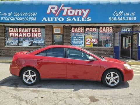 2007 Pontiac G6 for sale at R Tony Auto Sales in Clinton Township MI