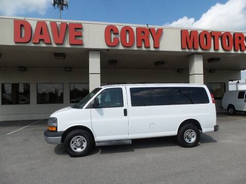 2015 Chevrolet Express Passenger for sale at DAVE CORY MOTORS in Houston TX