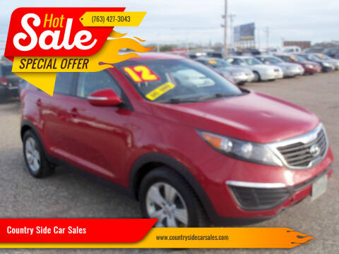 2012 Kia Sportage for sale at Country Side Car Sales in Elk River MN