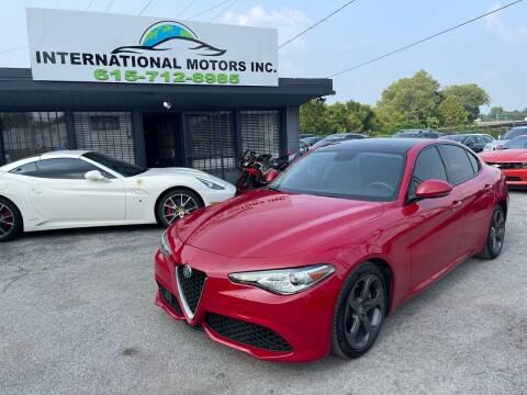 2017 Alfa Romeo Giulia for sale at International Motors Inc. in Nashville TN
