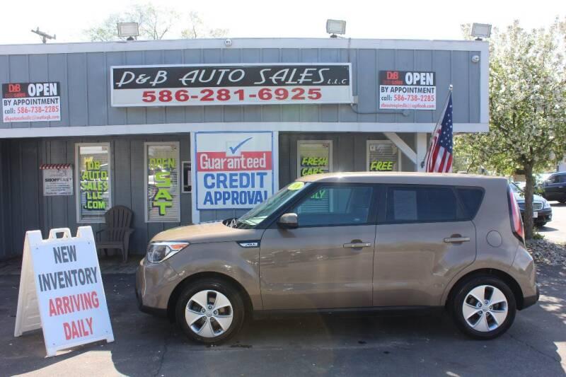 2016 Kia Soul for sale at D & B Auto Sales LLC in Washington Township MI