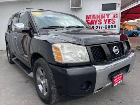 2005 Nissan Armada for sale at Manny G Motors in San Antonio TX