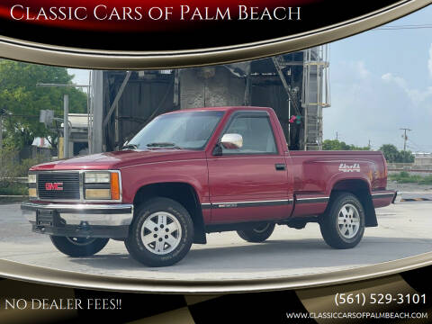 1990 GMC Sierra 1500 for sale at Classic Cars of Palm Beach in Jupiter FL