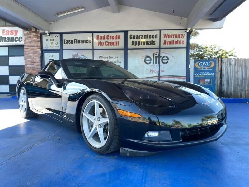 2013 Chevrolet Corvette for sale at ELITE AUTO WORLD in Fort Lauderdale FL