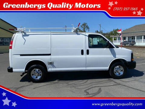 2013 Chevrolet Express Cargo for sale at Greenbergs Quality Motors in Napa CA