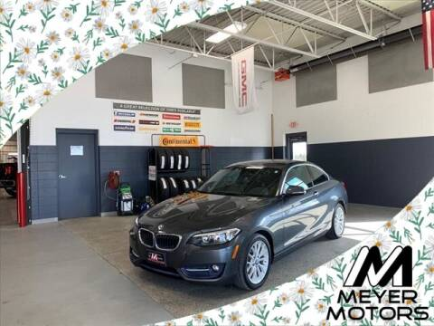 2016 BMW 2 Series for sale at Meyer Motors in Plymouth WI