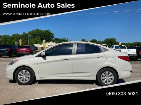 2016 Hyundai Accent for sale at Seminole Auto Sales in Seminole OK