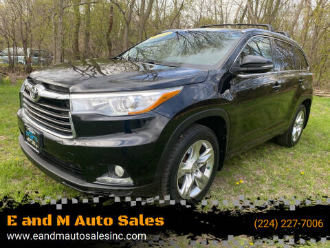 2014 Toyota Highlander for sale at E and M Auto Sales in East Dundee IL