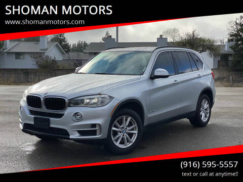 2015 BMW X5 for sale at SHOMAN MOTORS in Davis CA