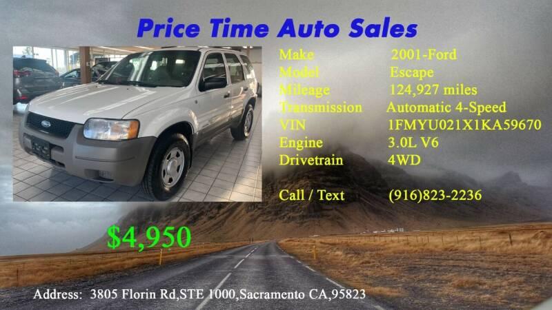 2001 Ford Escape for sale at PRICE TIME AUTO SALES in Sacramento CA