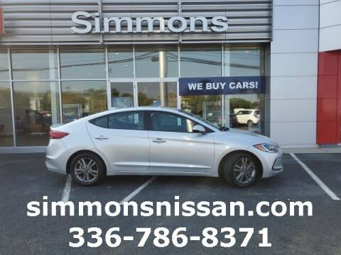 2018 Hyundai Elantra for sale at SIMMONS NISSAN INC in Mount Airy NC