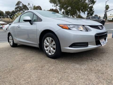 2012 Honda Civic for sale at Beyer Enterprise in San Ysidro CA
