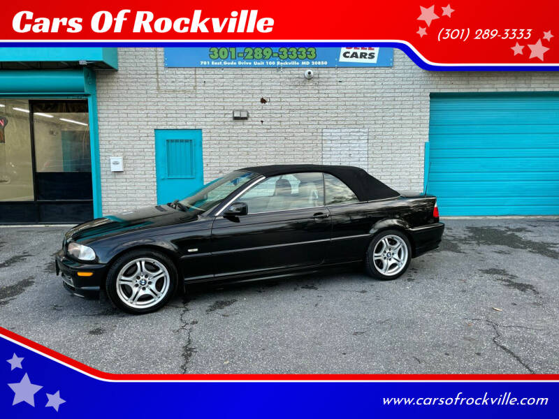 2003 BMW 3 Series for sale at Cars Of Rockville in Rockville MD