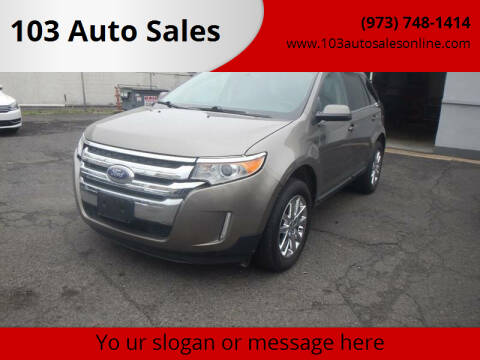 2013 Ford Edge for sale at 103 Auto Sales in Bloomfield NJ