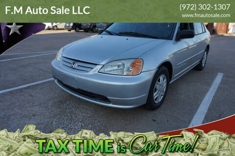 2003 Honda Civic for sale at F.M Auto Sale LLC in Dallas TX